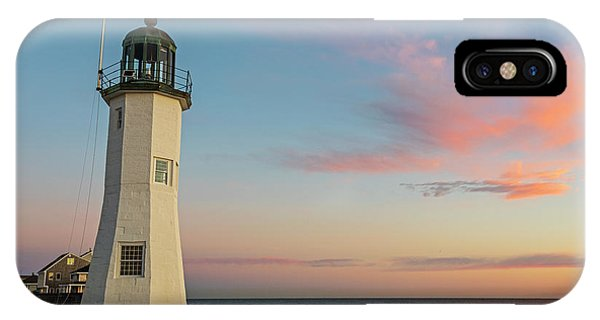 Scituate Lighthouse Scituate Massachusetts South Shore At Sunrise IPhone Case