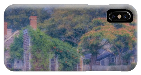 Sconset Cottages Nantucket IPhone Case
