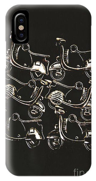 Ornamental iPhone Case - Scooters Of Pop Culture by Jorgo Photography - Wall Art Gallery