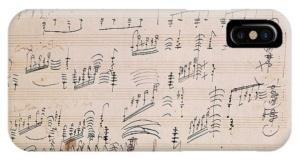 Musical iPhone Case - Score Sheet Of Moonlight Sonata by Ludwig van Beethoven