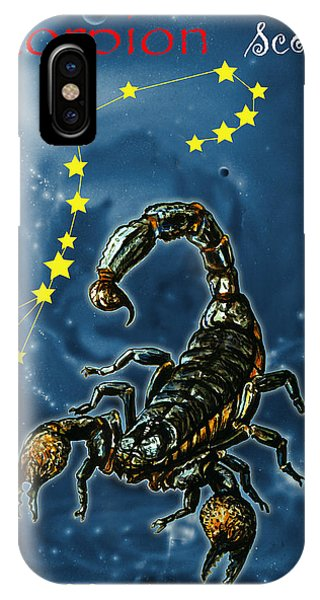 iPhone Case - Scorpius And The Stars by Johannes Margreiter