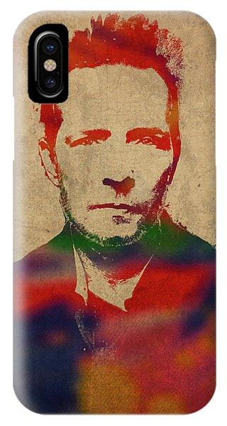 Scott Weiland Stone Temple Pilots Watercolor Portrait IPhone Case