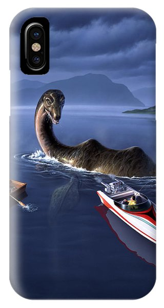 Dinosaur iPhone Case - Scottish Cuisine by Jerry LoFaro