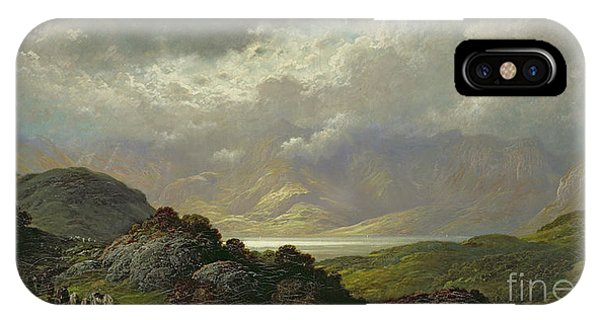 Hill iPhone Case - Scottish Landscape by Gustave Dore