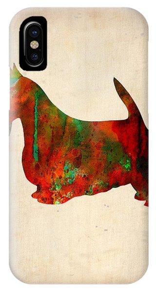 Scottish Terrier Watercolor 2 IPhone Case