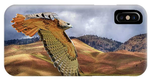 Red Tail Hawk iPhone Case - Scouting The Foothills by Donna Kennedy