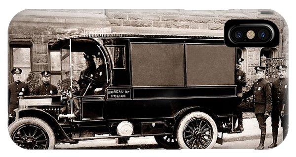 Scranton Pennsylvania  Bureau Of Police  Paddy Wagon  Early 1900s IPhone Case