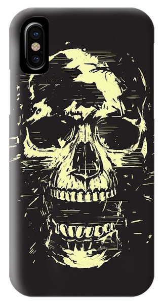 Skull iPhone Case - Scream by Balazs Solti