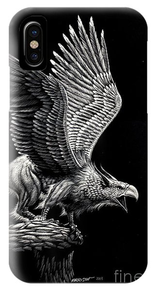 Griffon iPhone Case - Screaming Griffon by Stanley Morrison