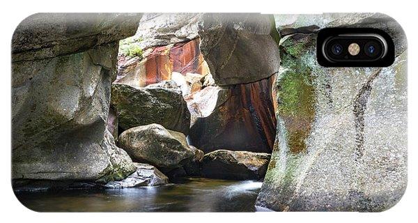 Screw Auger Falls Cavern IPhone Case