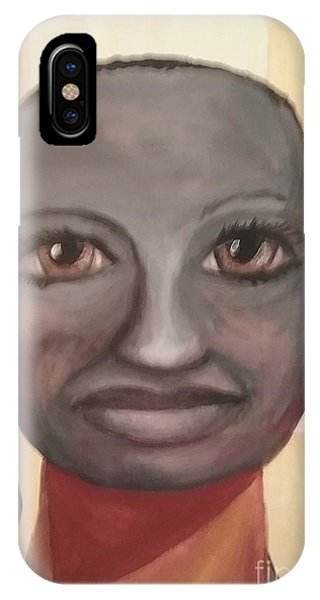 IPhone Case featuring the painting Screw You Cancer by Saundra Johnson