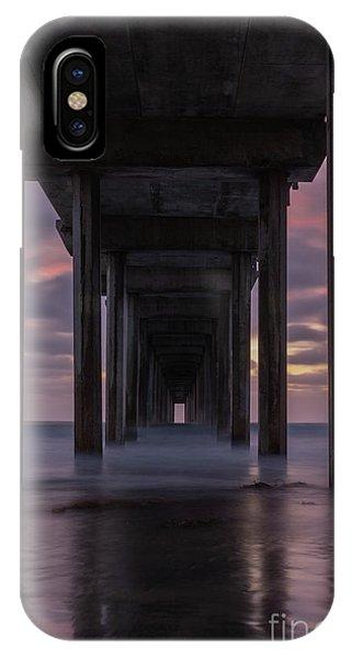 Scripps Pier iPhone Case - Scripp's Doorway by Jeremy Dufault