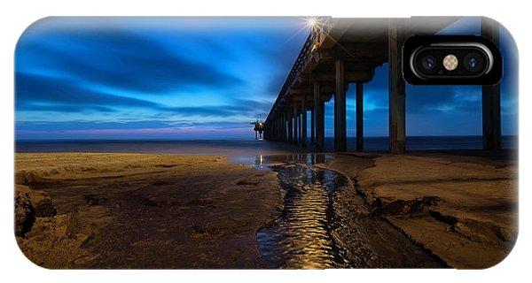 Scripps Pier iPhone Case - Scripps Pier Blue Hour by Larry Marshall
