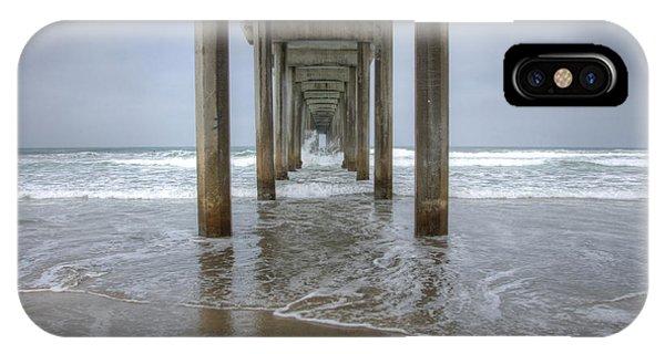 Scripps Pier iPhone Case - Scripps Pier La Jolla California 4 by Bob Christopher
