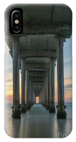 Scripps Pier iPhone Case - Scripps Pier Pillars  by Michael Ver Sprill