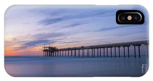Scripps Pier iPhone Case - Scripps Pier Silhouette  by Michael Ver Sprill