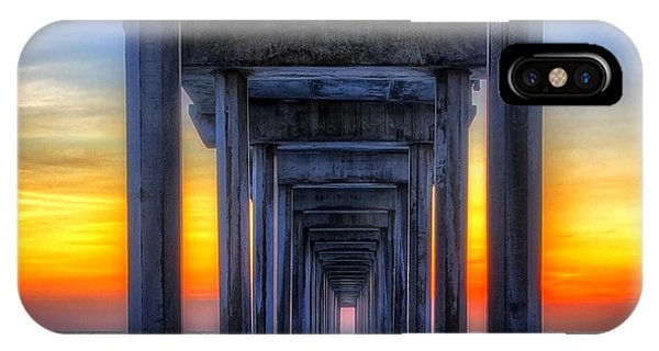 Scripp's Pier Sunset La Jolla California IPhone Case