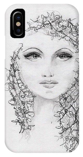 Script Portrait IPhone Case