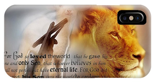 Scripture Art    Lamb Of God IPhone Case