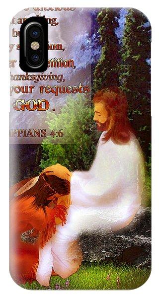 Scripture Art   Native Prayer IPhone Case