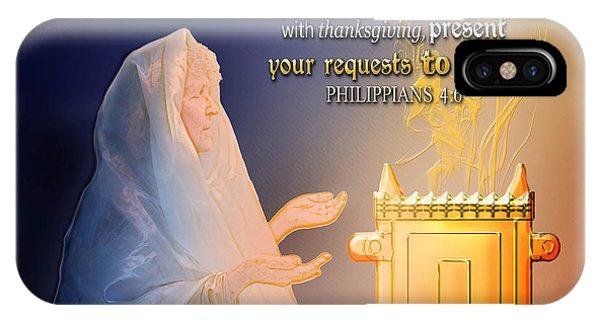 Scripture Art   Watchman's Prayer IPhone Case