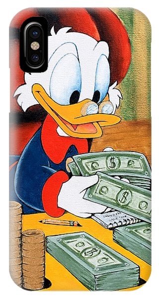 Scrooge Mcduck Counting Money IPhone Case