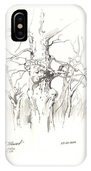 Scrub Oaks In Cottonwood Phone Case by John Norman Stewart