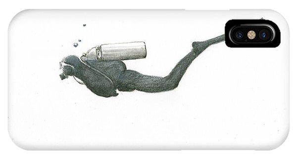 Scuba Diving iPhone Case - Scuba Diver  by Juan Bosco