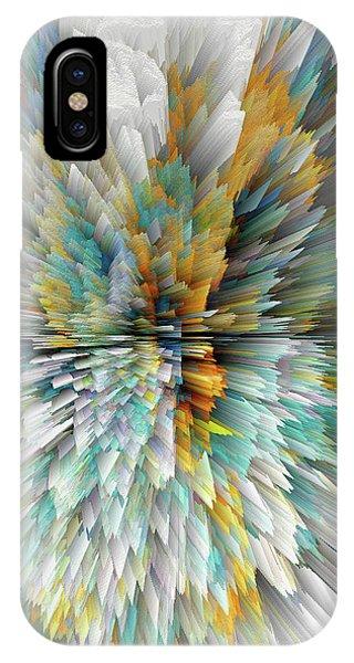 IPhone Case featuring the digital art Sculptural Series Digital Painting 23.102011windextsc590l by Kris Haas