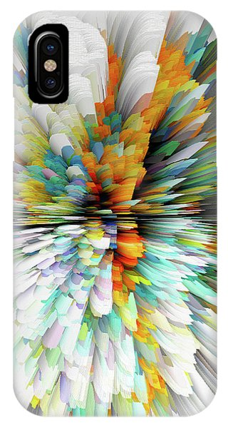 IPhone Case featuring the digital art Sculptural Series Painting23.102011windblastsccvsext4100l by Kris Haas