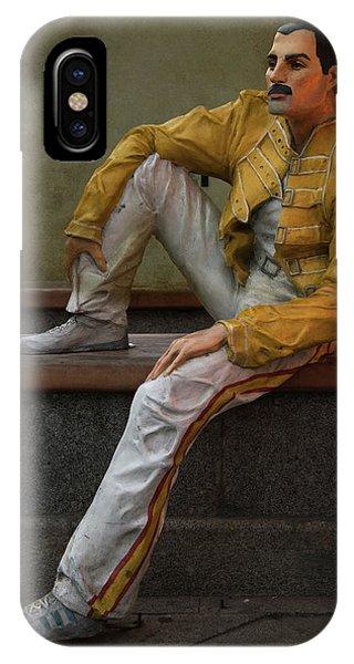 IPhone Case featuring the photograph Sculptures Of Sankt Petersburg - Freddie Mercury by Jaroslaw Blaminsky