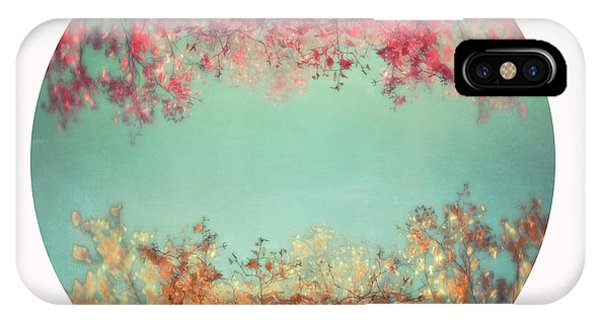 Teal iPhone Case - Gold And Pink by Priska Wettstein
