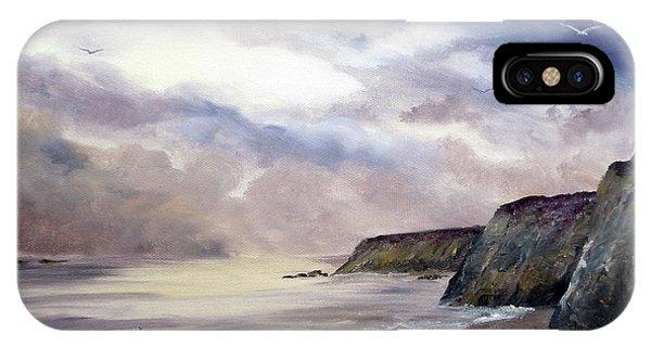 Half Moon Bay iPhone Case - Sea Dancer by Laura Iverson