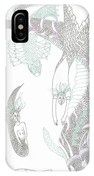 Sea Dragons And Mermaids IPhone Case