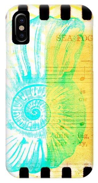 Tropical iPhone Case - Sea Fog Nautilus by Brandi Fitzgerald