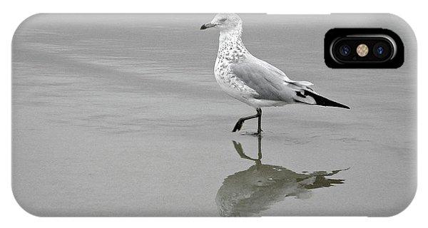 Sea Gull Walking In Surf IPhone Case