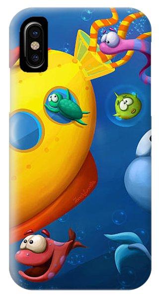 Scuba Diving iPhone Case - Sea Life by Tooshtoosh
