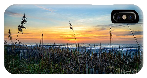 Sea Oats Sunrise IPhone Case