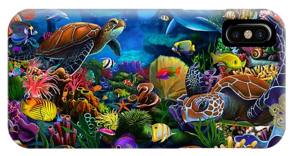 Scuba Diving iPhone Case - Sea Of Beauty by MGL Meiklejohn Graphics Licensing