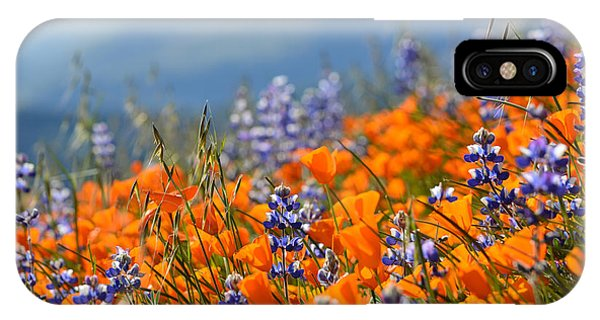 Sea Of California Wildflowers IPhone Case