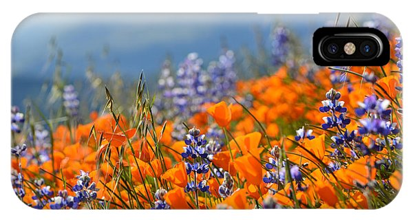 Sea Of California Wildflowers IPhone Case