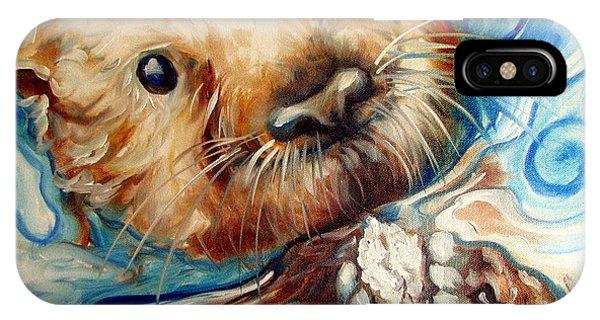 Sea Otter Swim IPhone Case