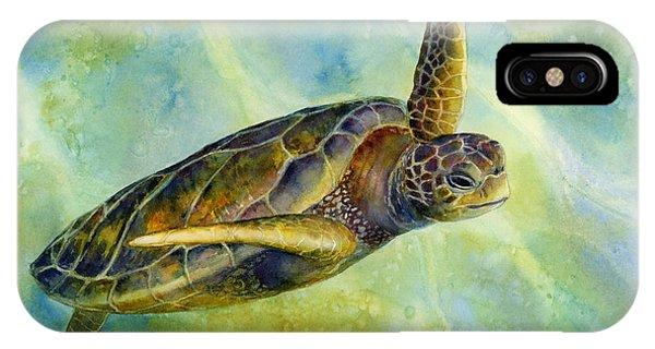 Flight iPhone Case - Sea Turtle 2 by Hailey E Herrera