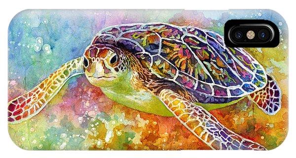 Flight iPhone Case - Sea Turtle 3 by Hailey E Herrera