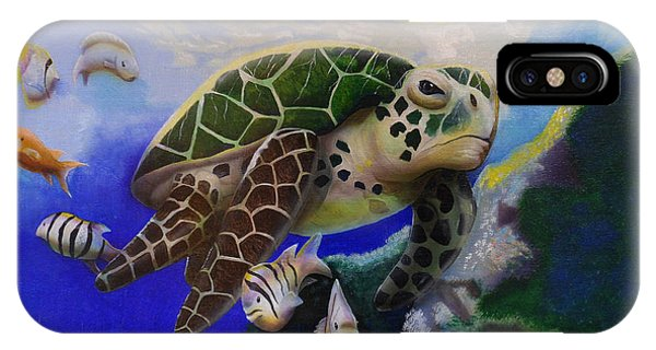 Sea Turtle Acrylic Painting IPhone Case