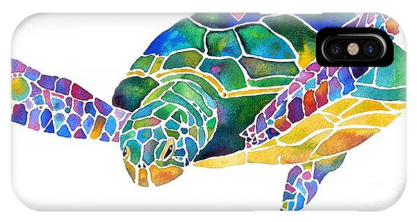 Sea Turtle Celebration 4 Prints Only IPhone Case