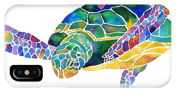 Movie iPhone Case - Sea Turtle Celebration 4 Prints Only by Jo Lynch