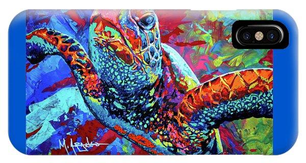 Turtle iPhone X Case - Sea Turtle by Maria Arango