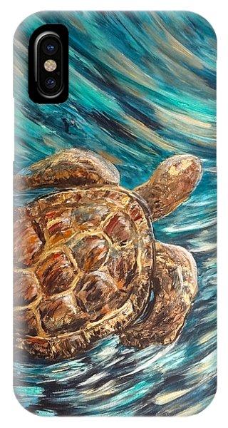 Sea Turtle Wave Guam IPhone Case