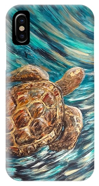 Sea Turtle Wave Guam IPhone Case